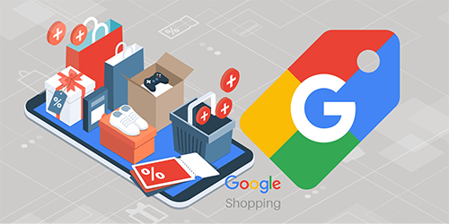 Shoes, gaming console and shopping bags ready to be for Google Shopping free listing